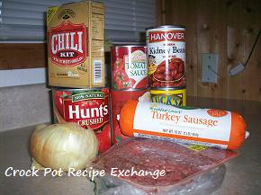 Sausage And Beef Crock Pot Chili Beans Crock Pot Recipe Exchange